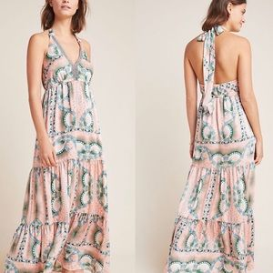 NWT $240 Anthropologie Moroccan Print Maxi Dress 4